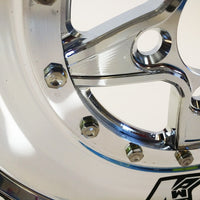 "Keizer ""Verbrand"" Skinnies Rear Honda Drag Wheel - Chrome Barrel"
