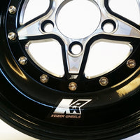 "Keizer ""Verbrand"" Skinnies Rear Honda Drag Wheel - Black Barrel"