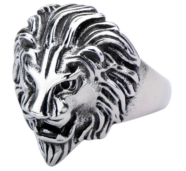 Men's Stainless Steel Lion Head Ring