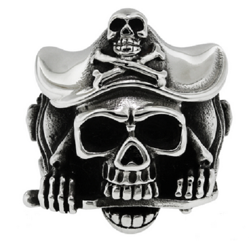 Stainless Steel 316L Pirate Skull Ring