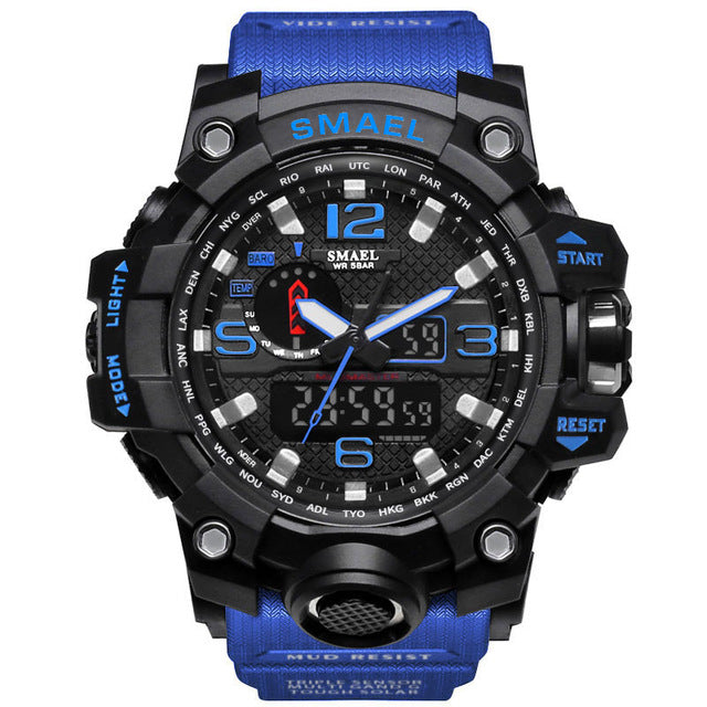 Flashy Trends Waterproof Men's Military Wrist Watch 50m LED Quartz Clock Sport 1545 S Shock available in 16 Colors