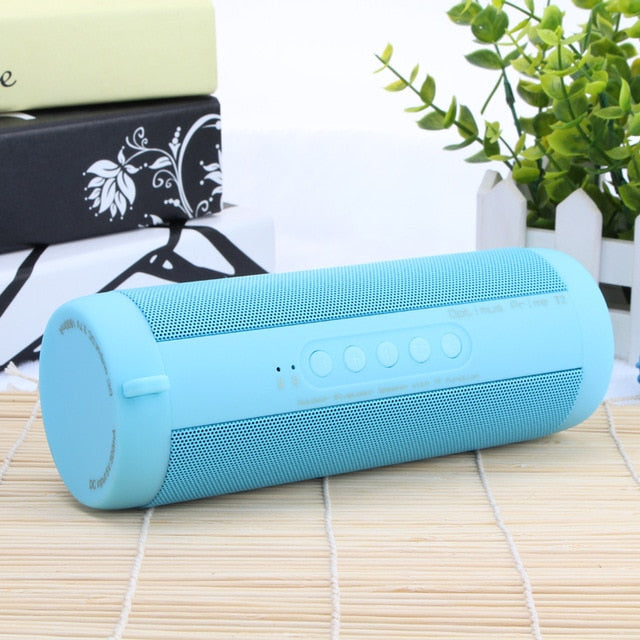Flashy Trends Wireless T2 Portable Waterproof Bluetooth Outdoor Mini Column Box Speaker Supports TF card FM Stereo Hi-Fi
