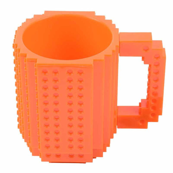 Flashy Trends Creative DIY Build-on Brick Mug Lego Style Puzzle Mugs, Building Blocks Coffee Mug available in 9 Colors