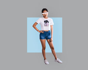"""spirit"" Crop Top - Graybøund Apparel and Acessories"