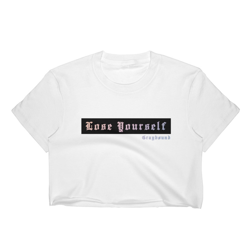 "Graybøund ""Lose Yourself"" Women's Crop Top"