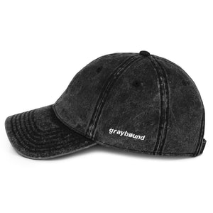 Graybøund Vintage Denim Embroidered Cap - Graybøund Apparel and Acessories