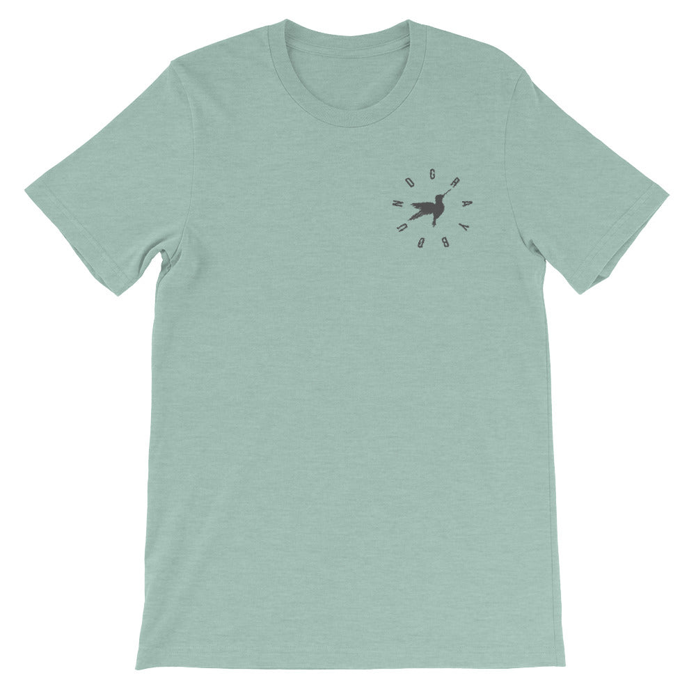 Hummingbird Embroidered Tee - Graybøund Apparel and Acessories