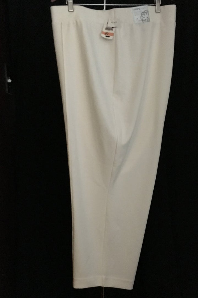 b93bdbc891758 WINTER WHITE CREPE KNIT SLIM LEG PANTS BY CATHERINE S 5XWP – YOUR ...