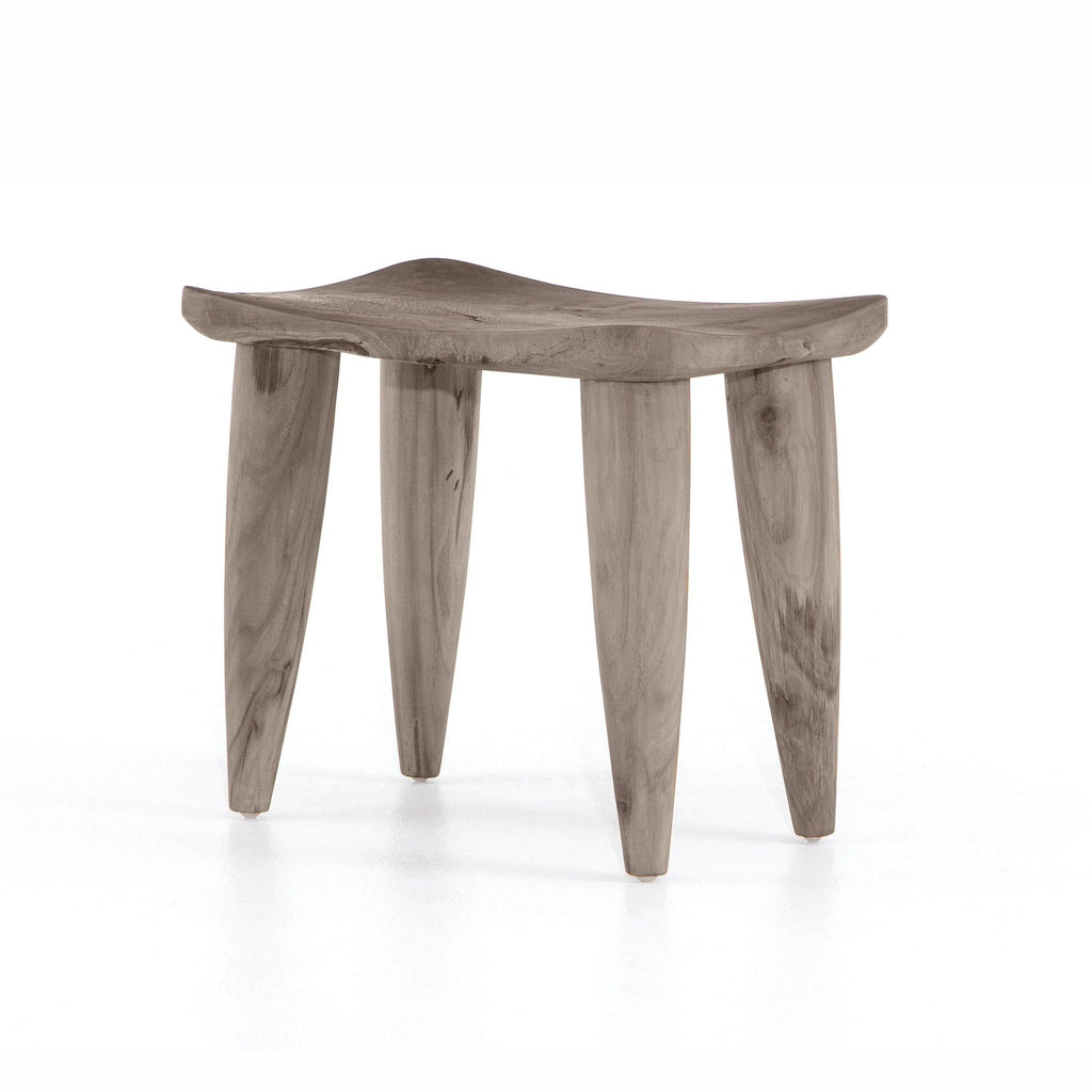 Zander Outdoor Stool, Weathered Grey