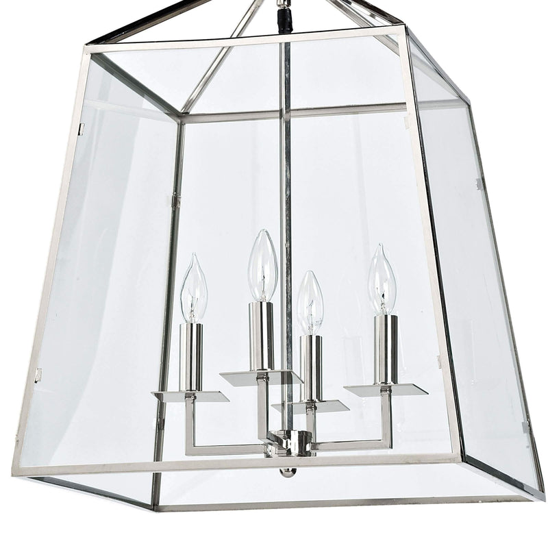 Cachet Lantern by Coastal Living, Polished Nickel