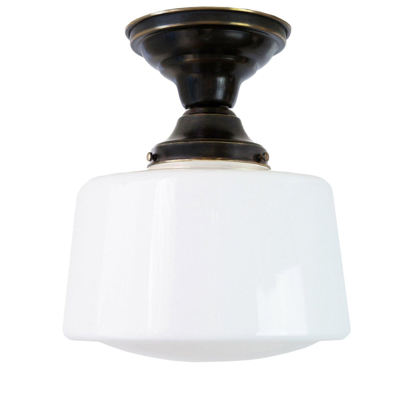 Drum Schoolhouse Ceiling Fixture, 8""