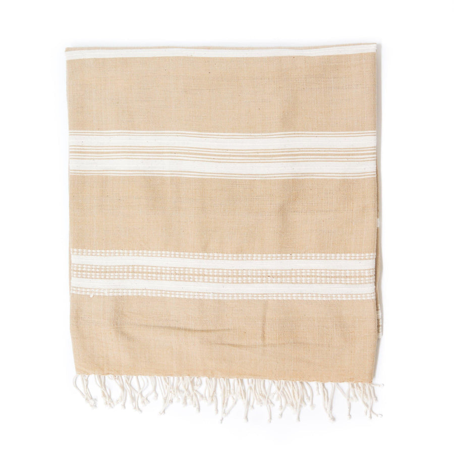 Alanya Bath Towel, Rattan with Natural