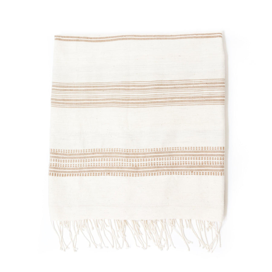 Alanya Bath Towel, Natural with Rattan