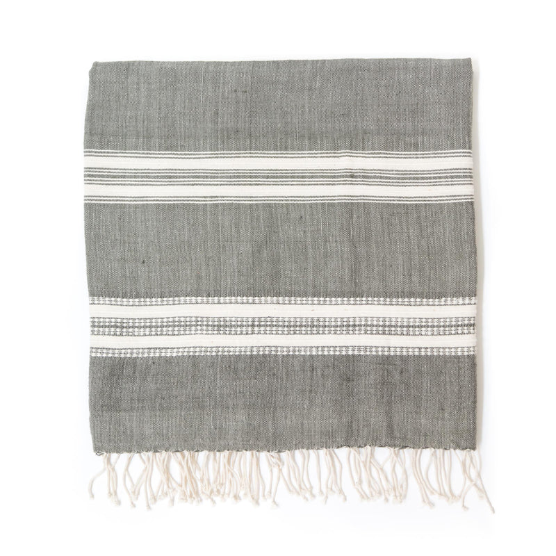 Alanya Bath Towel, Grey with Natural