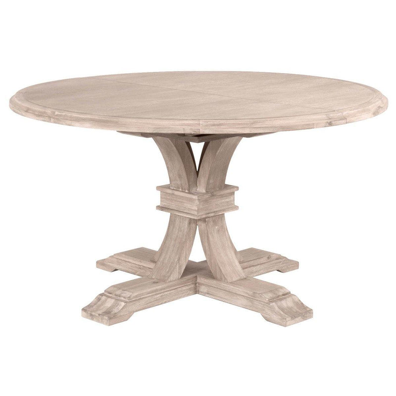 Derek Round Extension Dining Table, Natural Gray