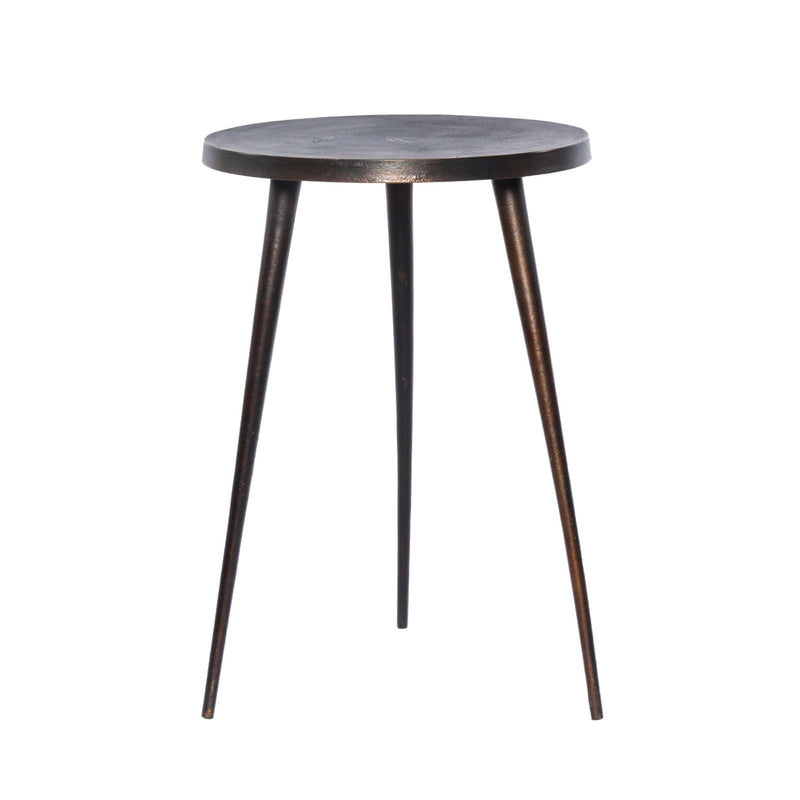 Allan Outdoor Side Table, Antique Rust