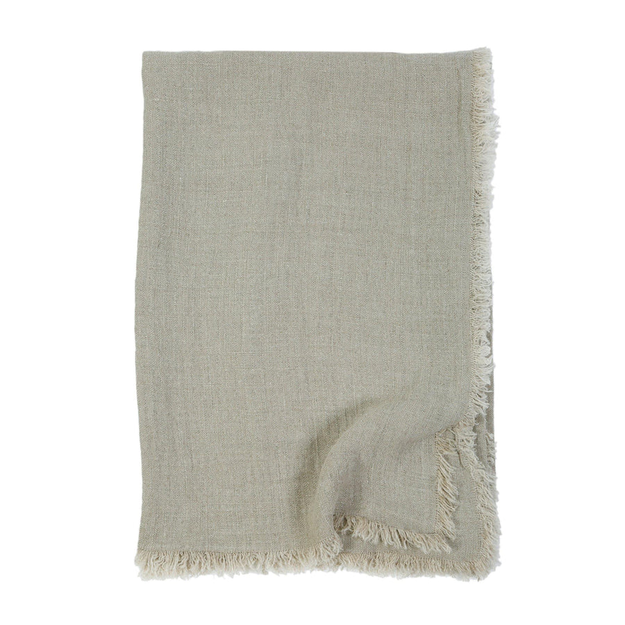 Laurel Oversized Throw by Pom Pom at Home, Pale Olive