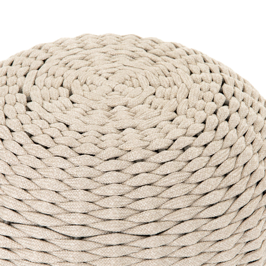 Phoebe Accent Stool, Natural Rope