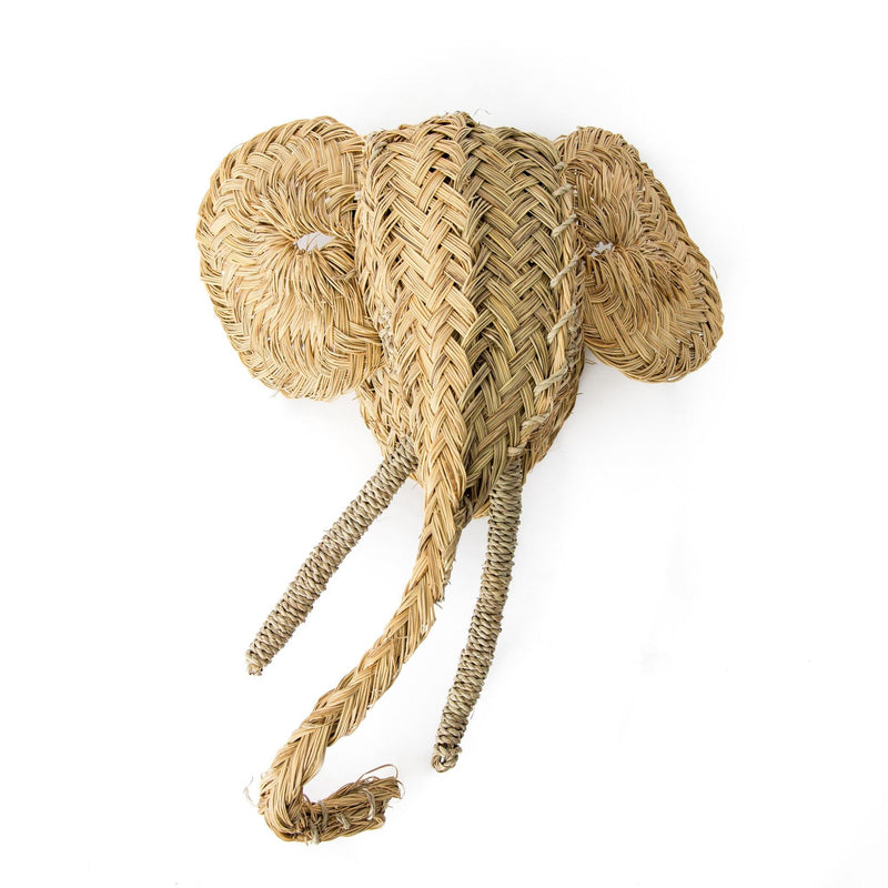 Olly Hand-Woven Moroccan Elephant Head