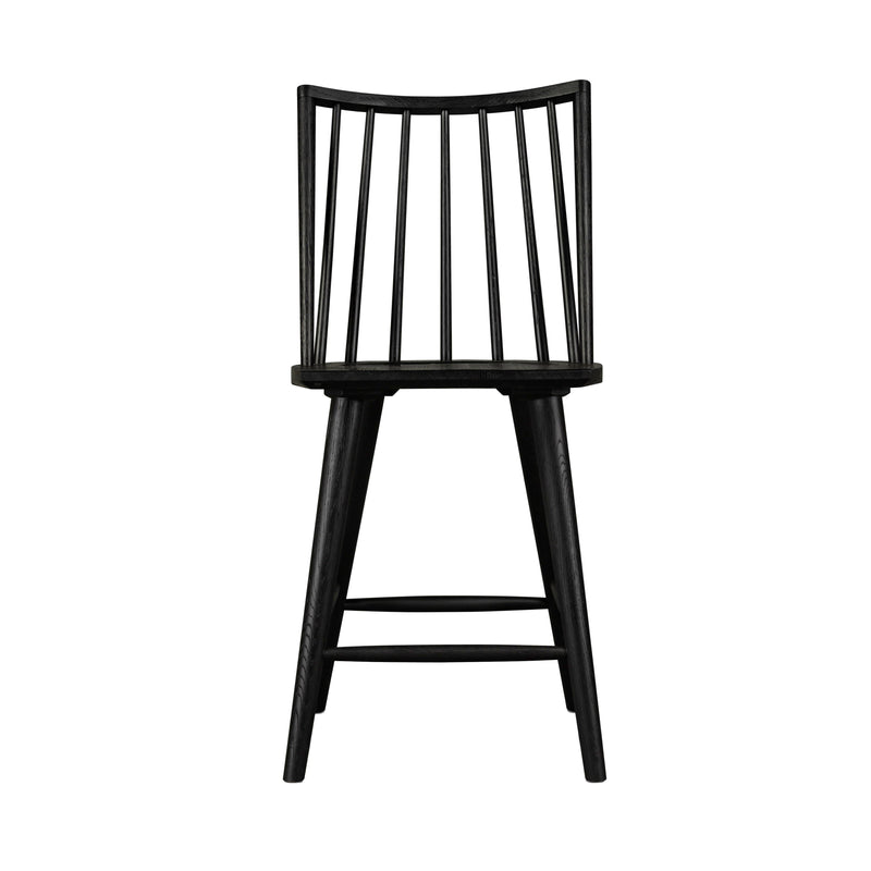 Louise Counter Stool, Black Oak