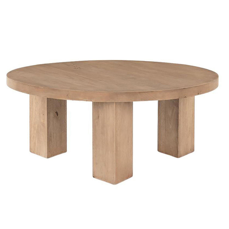 Mesa Round Coffee Table in Light Brushed
