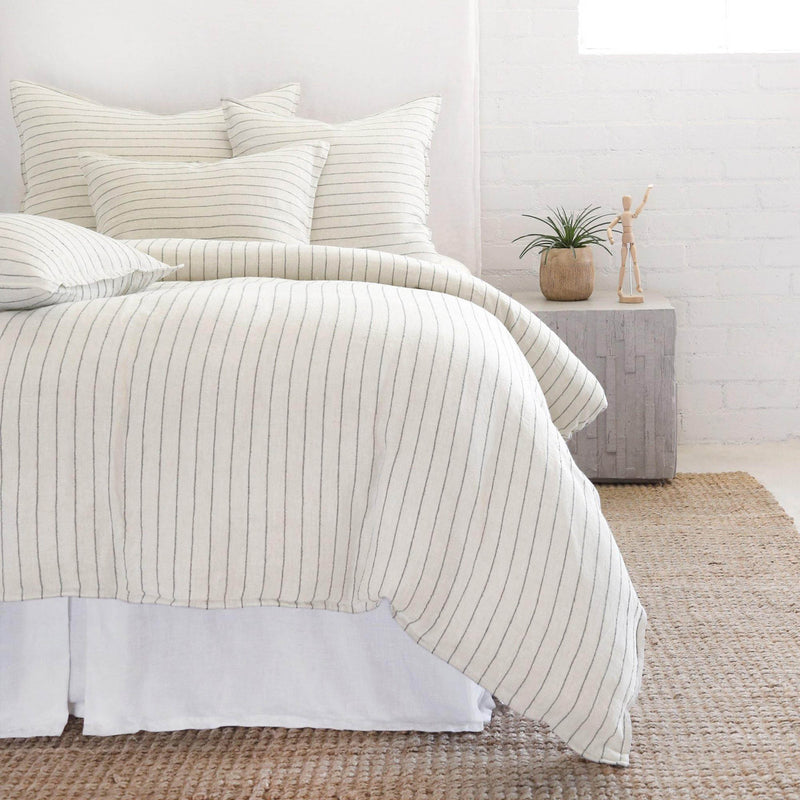 Blake Duvet Collection by Pom Pom at Home, Cream/Grey