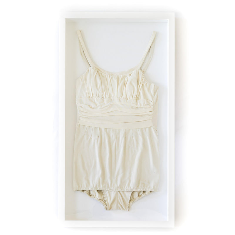 Framed Vintage White Swimsuit