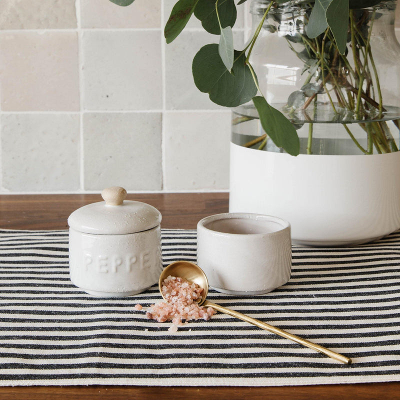 Myla Cotton Striped Table Runner