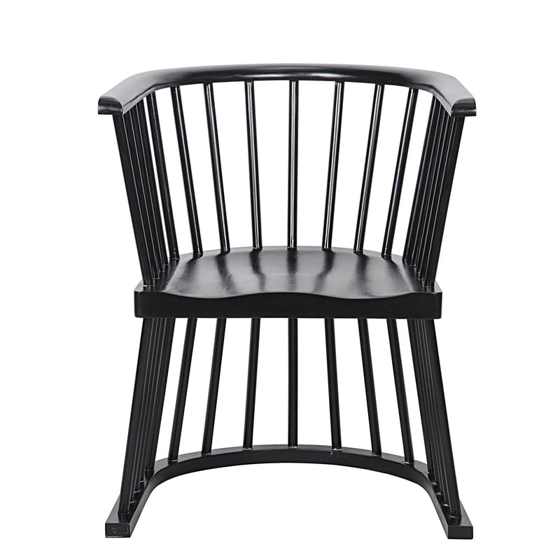Amos Accent Chair, Hand Rubbed Black