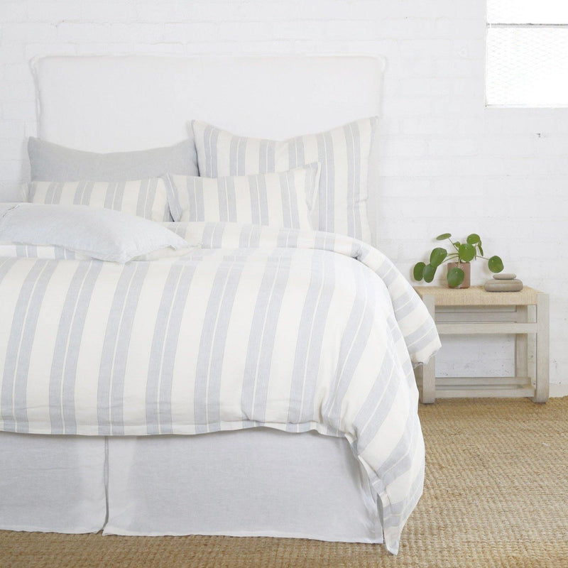 Carter Duvet Collection by Pom Pom at Home, Ivory/Denim