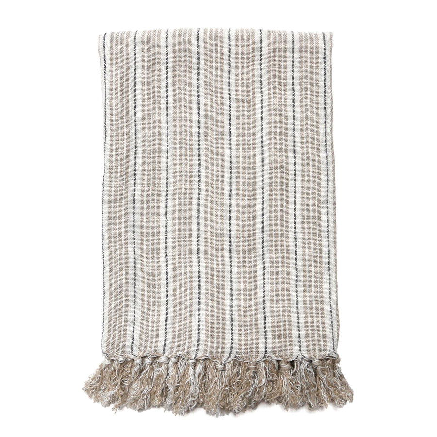 Newport Blanket by Pom Pom at Home, Natural/Midnight