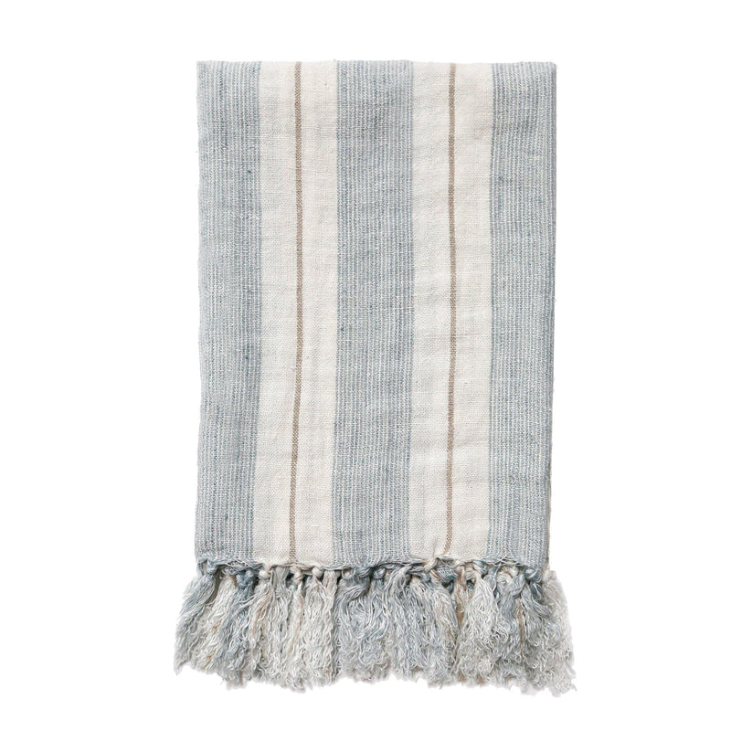 Laguna Throw by Pom Pom at Home, Ocean/Natural