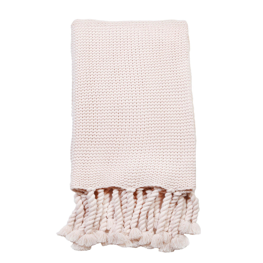Trestles Oversized Throw by Pom Pom at Home, Blush