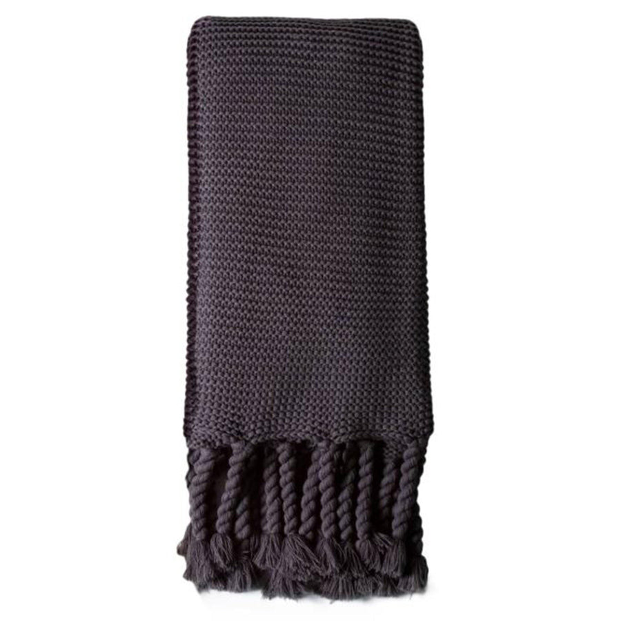 Trestles Oversized Throw by Pom Pom at Home, Midnight