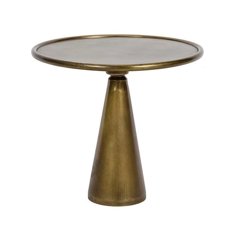 Hiro Side Table in Antique Brass