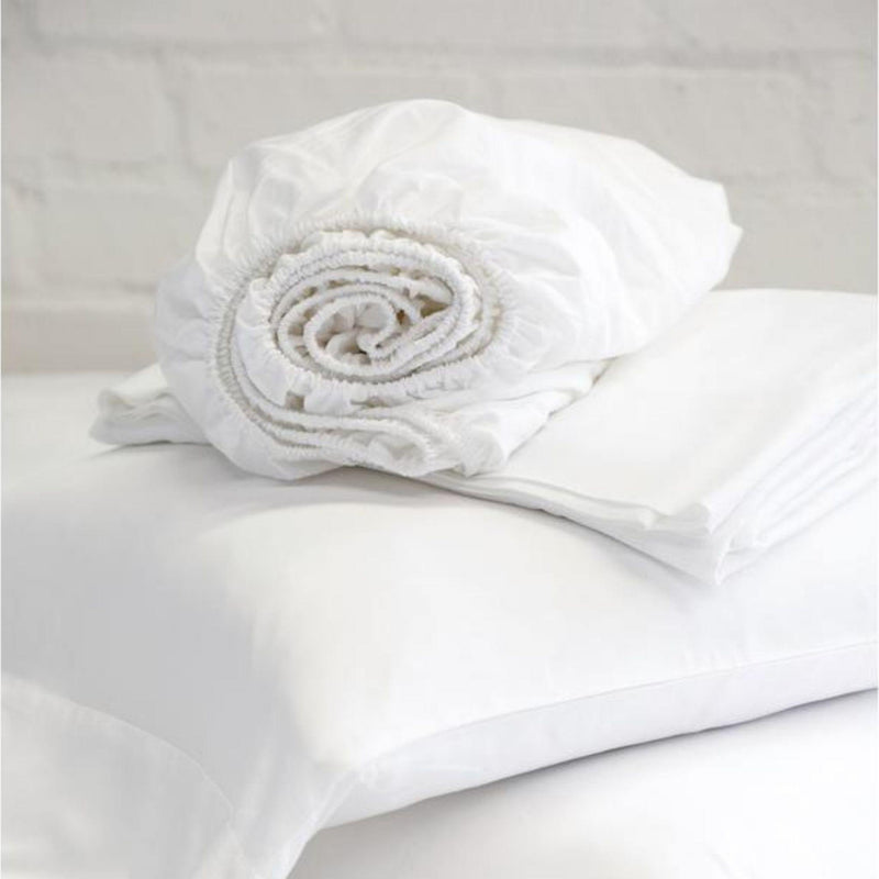 Cotton Sateen Sheet Set by Pom Pom at Home, White
