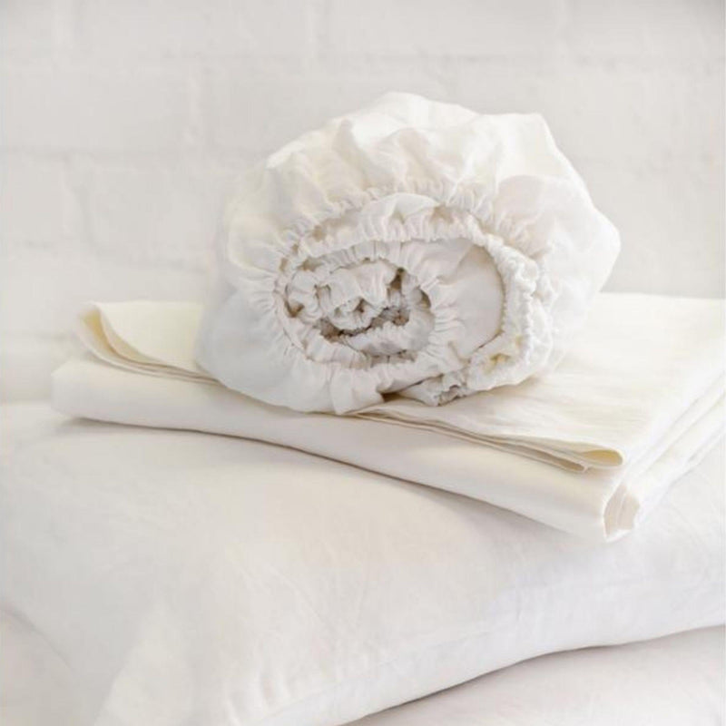 Linen Sheet Set by Pom Pom at Home, Cream