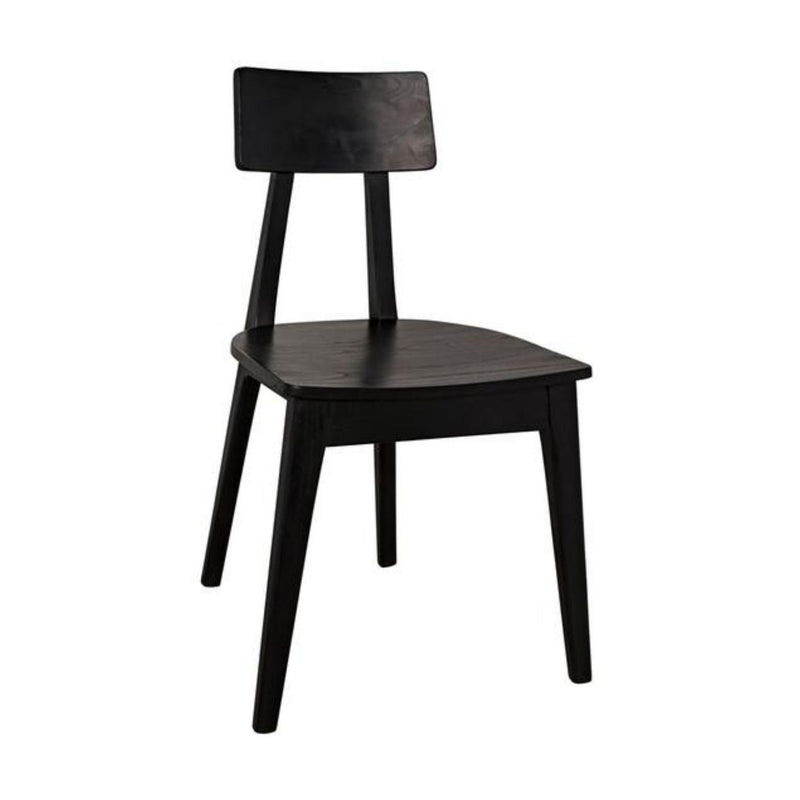 Gina Chair in Charcoal Black