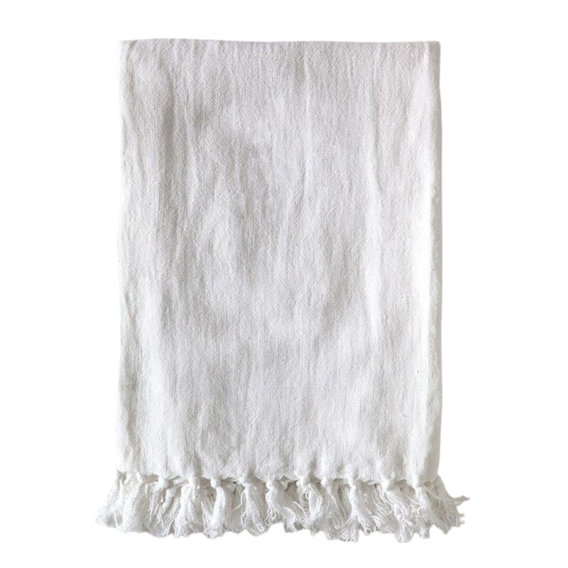 Montauk Blanket by Pom Pom at Home, Pure White