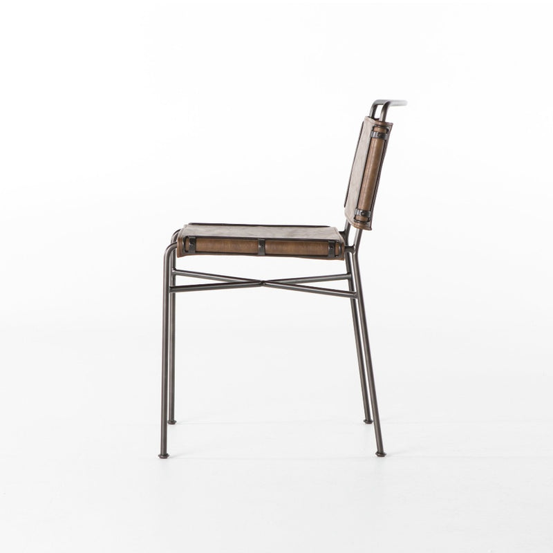 Willis Dining Chair, Distressed Brown