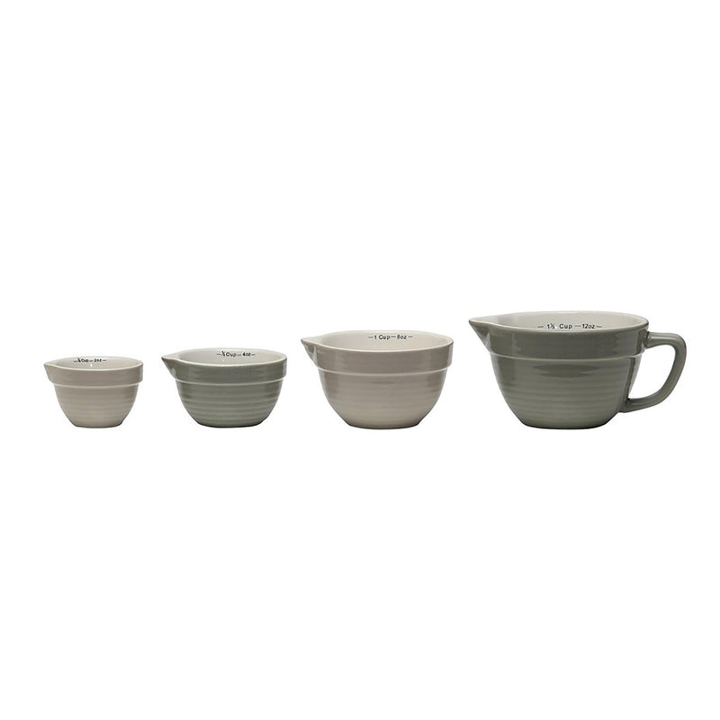 Harlan Stoneware Batter Bowl Shaped Measuring Cups Set