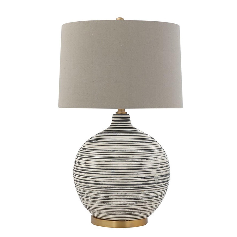 Innes Textured Table Lamp with Natural Linen Shade