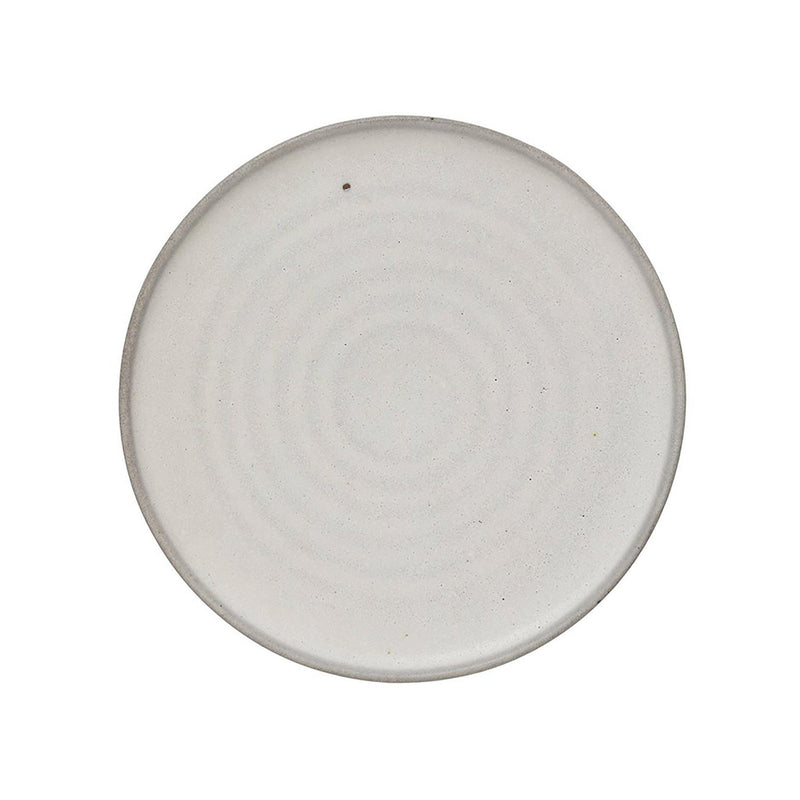 Ronnie Stoneware Plate in Matte White