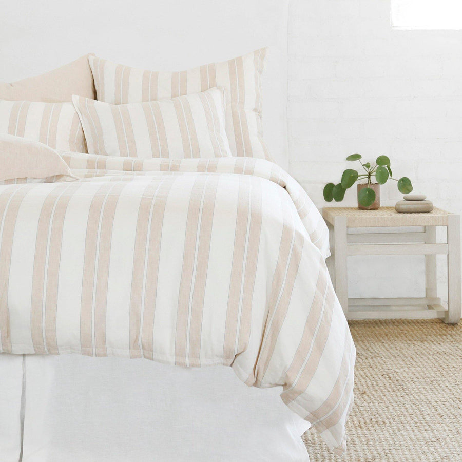 Carter Duvet Collection by Pom Pom at Home, Ivory/Amber