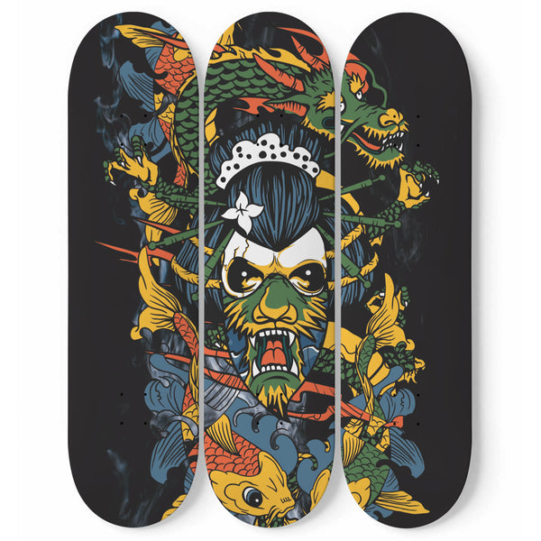 La Geisha Dragon - Art mural skateboard