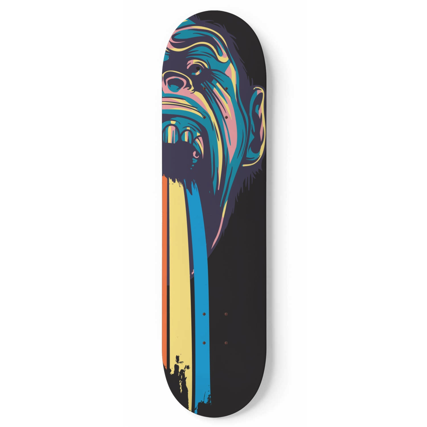 Le single arc en ciel droit - Skateboard