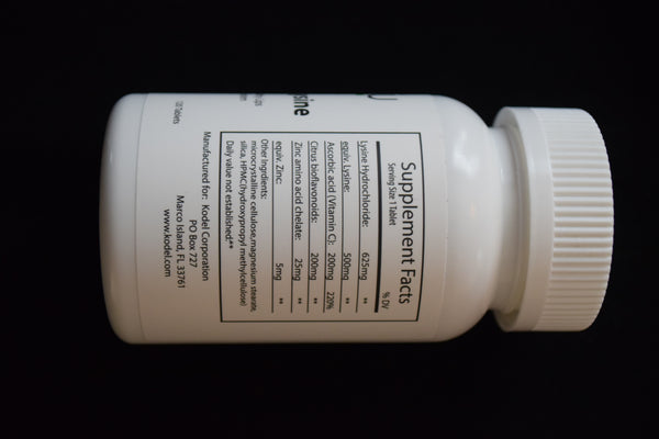 Veatu Immunity Lysine 1000mg 120 Tablet Bottle