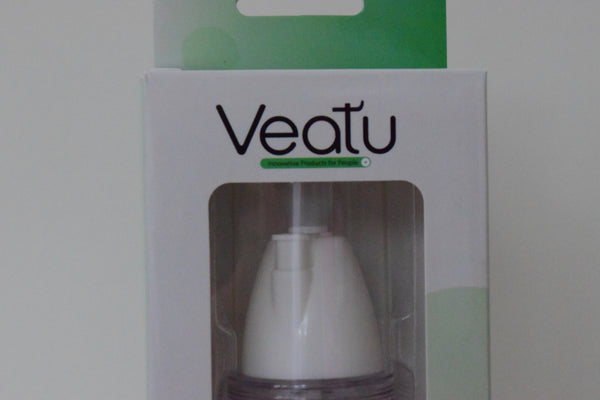 Veatu Soft Tip Neti-Sprayer Gentle Misting Nasal Wash and Moisturizing System - Includes Pre-Mixed Buffered Saline Packets.