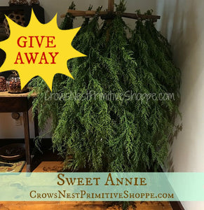 Sweet Annie Giveaway on Facebook!