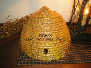 Bee Skep-Large Woven and Dipped